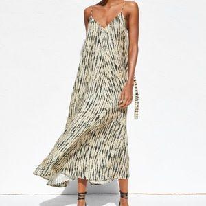 Zara Tie Dye Strappy Dress with Tie Back Xs/s